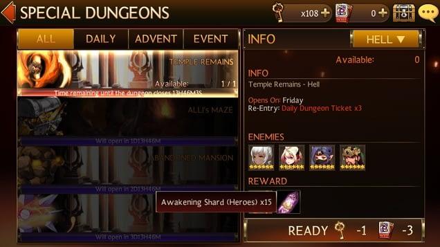 Cara awaken hero seven knights daily dungeon