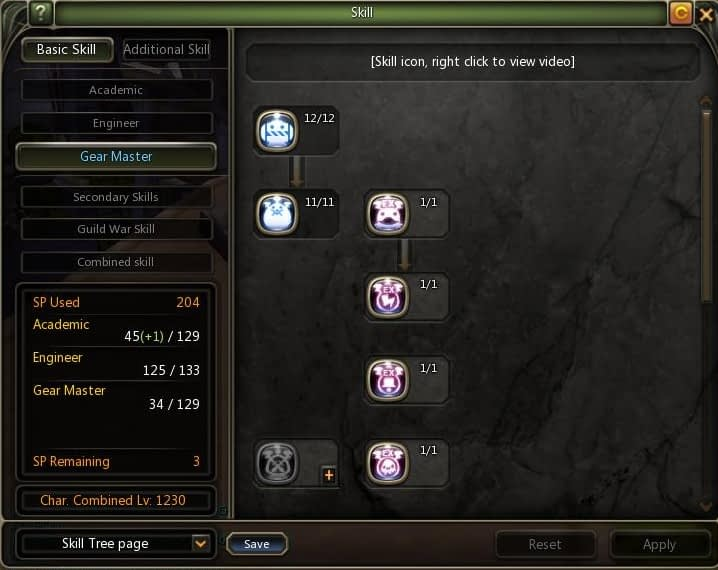 Dragon Nest Indonesia Lv 80 Gear master Skill build